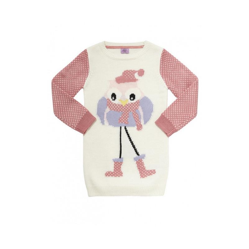 Pletené šaty Owl