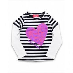 Pruhované triko Heart