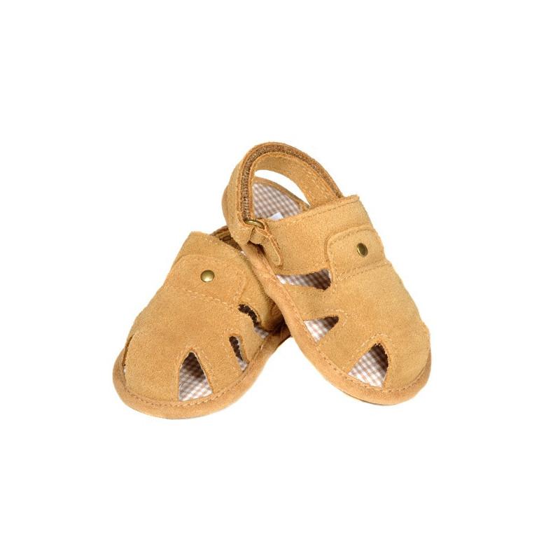 Kožené letní sandálky