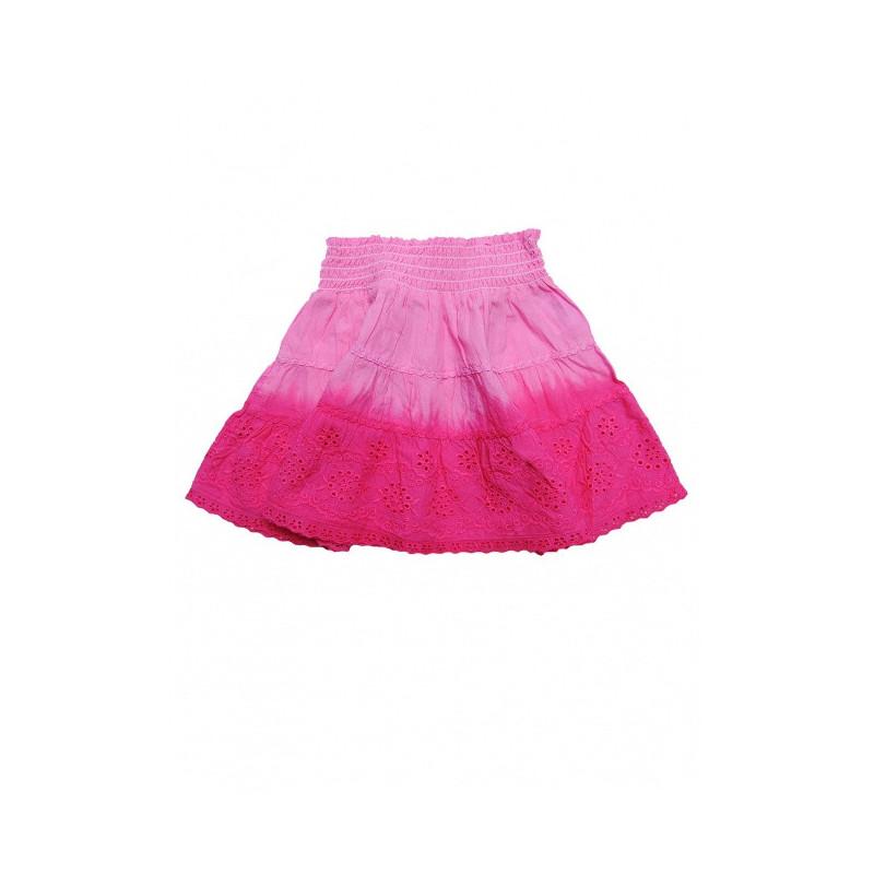 Růžová sukně s kanýrky