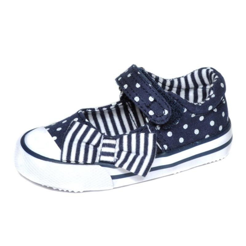 Sandálky mašle modré MC