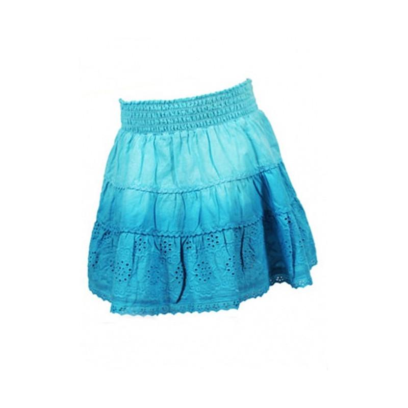 Modrá sukně s kanýrky