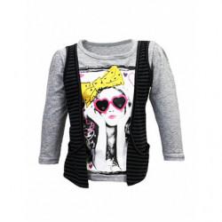 Dívčí triko s vestičkou
