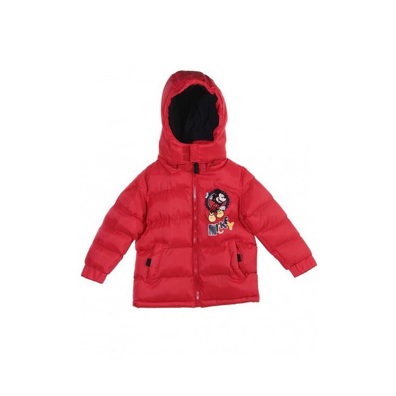 Zimní bunda Mickey červená