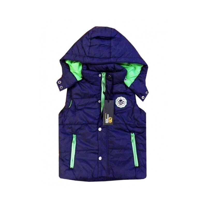 Prošívaná vesta modrá