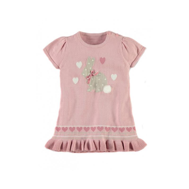 Kojenecké pletené šaty Pink